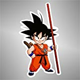 Aufkleber - Sticker Goku Dragon Ball Manga Anime Cartoon Sticker