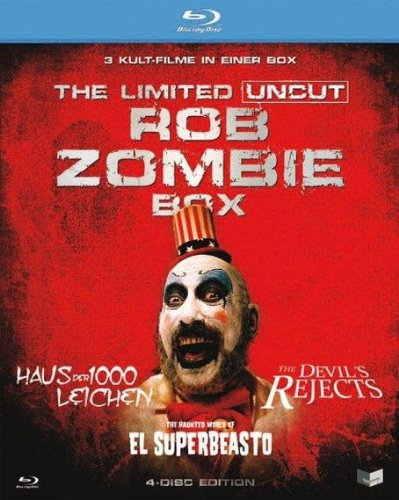 Rob Zombie Box (The Devils Rejects / Haus der 1000 Leichen / The Haunted World of El Superbeasto) (Uncut) [Limited Edition [4 Blu-rays]
