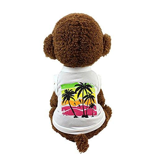 Robemon Hunde-Shirt,Mode Kokosnussbaumdruck Sommer T-Shirt Vest Tank Top Hochwertig, Niedlich, Schick, Ideal für Urlaub
