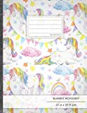 Blanko Notizbuch ? A4-Format, 100+ Seiten, Soft Cover, Register, ?Einhorn Regenbogen? ? Original #GoodMemos Blank Notebo