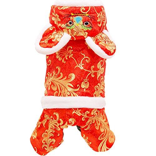 MUJING Tiger Styling Haustier Kleidung Hund Kostüm Halloween Weihnachten Cosplay Dress up Hund Kostüm,S