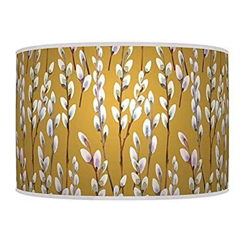 Printed table lamp shades amazon 20cm willow mustard yellow handmade lampshade giclee printed fabric pendant ceiling light shade 776 for table or floor lamp aloadofball Gallery