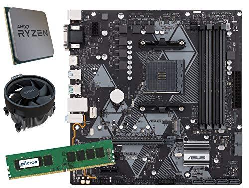 SNOGARD Aufrüstset | AMD RYZEN 5 1400 Prozessor | ASUS Prime B450M-A | 8GB DDR4 RAM/Desktop Computer Mainboard Bundle/Aufrüst Kit/PC Tuning Set (Amd-prozessor-kit)