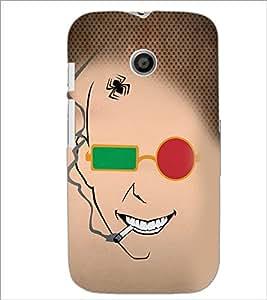 PrintDhaba Funny Sketch D-4489 Back Case Cover for MOTOROLA MOTO E (Multi-Coloured)