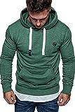 Amaci&Sons Herren Basic Logo Kapuzenpullover Sweatjacke Pullover Hoodie Sweatshirt 1-04028 Grün XXL