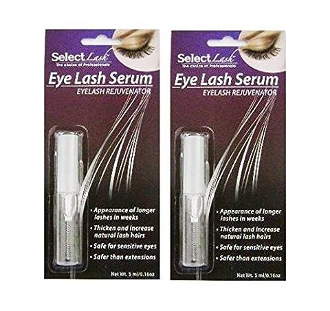 2 EYELASH SERUM - SELECT LASH (0.16 oz x 2 bottles) by SELECT LASH