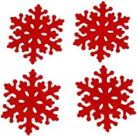 Generic 4 Pezzi Di Natale Del Fiocco Di Neve A Forma Di Coaster Mat Pad Tavolo Tovaglietta