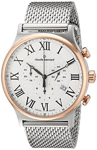 Claude Bernard Men's 10217 357RM AR Classic Dress Chronograph Analog Display Swiss Quartz Two Tone Watch