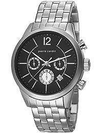 Pierre Cardin PC106591F08 - Reloj para hombres, correa de acero inoxidable color plateado