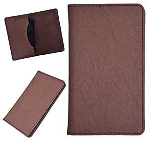 DCR Pu Leather case cover for Micromax Canvas Win W121 (brown)