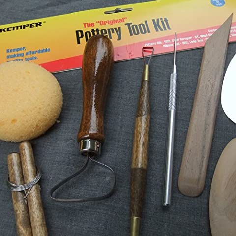 Kemper Pottery Tool Kit: The Original 8-Piece Pottery Tool Set by Kemper