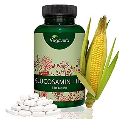Vegan Glucosamine Hydrochloride | 120 Tablets (4-Month Supply) | Highly dosed 1000 mg of Pure Glucosamine per Tablet | Support Joint Health, Reduce Inflammation, Rebuild Tissue | Vegan & Vegetarian by Vegavero by Vanatari International GmbH