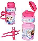 alles-meine.de GmbH Fahrradtrinkflasche -  Disney die Eiskönigin - Frozen  - mit Halterung - Halter für Kinder Fahrradflasche - Kunststoffflasche Kinderfahrrad - völlig unverfr..