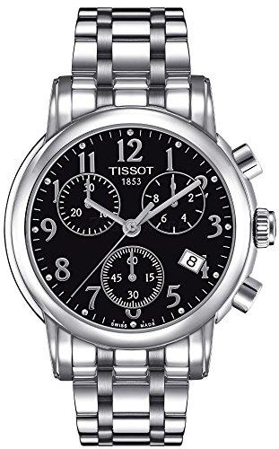 Tissot T050.217.11.052.00 – Reloj para mujeres, correa de acero inoxidable color plateado