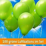 Luftballons für Hochzeit - 100 apfelgrüne Luftballons - Luftballons Helium geeignet