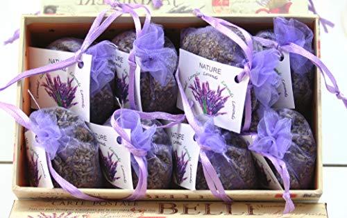 Direct Global Lavendelsäckchen 8 x 10 Gramm, Lavendelbeutel + dekorative Box, Zum Entspannen und Dekorieren des Hauses, Lavendelblüten