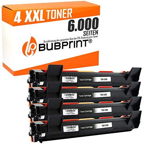 Bubprint CARTUCCE TONER COMPATIBILE PER BROTHER TN-1050 - Nero, 4 Set