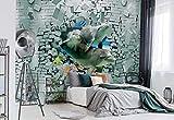 Delphin Korallen Ziegelstein - Wallsticker Warehouse - Fototapete - Tapete - Fotomural - Mural Wandbild - (3447WM) - XXL - 312cm x 219cm - VLIES (EasyInstall) - 3 Pieces