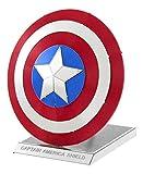 Fascinations Metal Earth MMS321 - 502641, Marvel Avenger Captain's America Shield, Konstruktionsspielzeug, 2 Metallplatinen, ab 14 Jahren