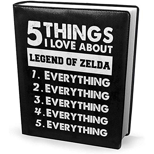 Portada del libro 9x11 pulgadas 5 cosas que amo de Legend of Zelda - Estirable lavable reutilizable