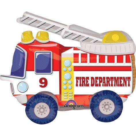 amscan 24/60cm Mighty Fire Truck Airwalkers Buddies Folienballon (Buddy Kostüm)