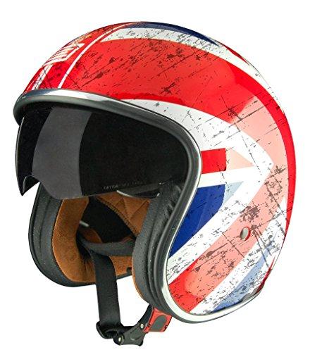 Origine Helmets Sprint Union Jack Relic, Bianco-Blu-Rosso, M