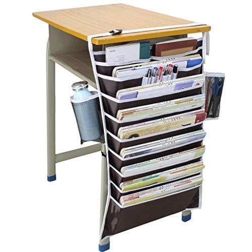 WXH-Datei Halter Bücherregal Schreibtischaufbewahrung Büchertasche Multifunktionale Hängetasche (Farbe : A)