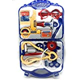RAYFIN® A2ZSHOPMART Doctor Plastic PLAYSET KIT with Foldable Suitcase, Compact Medical Accessories Toy Set Pretend Play Kids (Multicolour)
