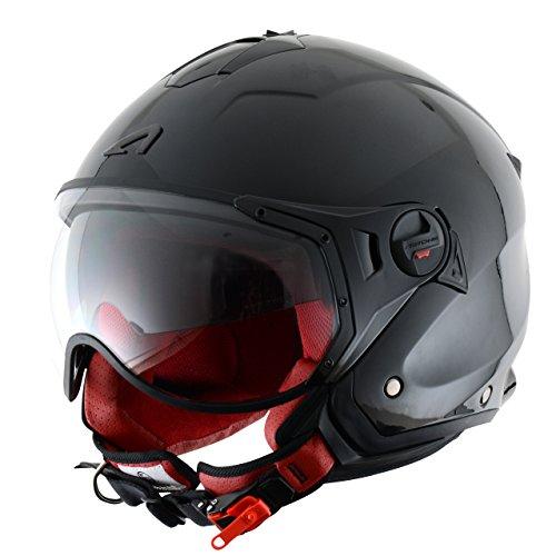Astone Helmets - Casco Jet Mini Sport, colore nero, taglie L