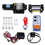 12V Cabrestante de recuperación de 4000Lbs ATV eléctrico Kit, mando a distancia inalámbrico 12V 4WD ATV UTV remolque camión coche