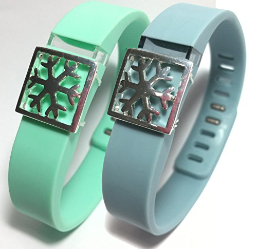 2pcs Fashion Wristband for Fitbit Flex with Clasp Wireless Activity-fitness Band Bling Accessory- Dress Outfit.