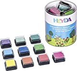 Heyda 204888470 Heyda 204888470 Mini-Stempelkissen Set (Rainbow) 3 x 3 cm , 10 Farben sortiert