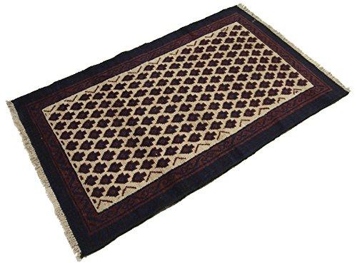 Galleria farah1970 - cm 130x80 autentico, originale tappeto rustico pure lana fatto a mano afgano