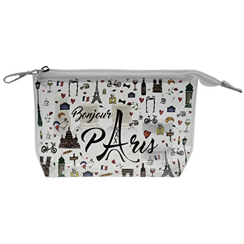 Incidence Paris Bonjour Paris Trousse de Toilette, 20 cm, Transparent
