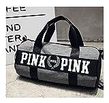 Beauty Smooth Design, leichte, wasserabweisende, faltbare Nylon-Schultertasche oder Allzwecktasche als Turnbeutel und fürs Fitnessstudio, in pink., grau