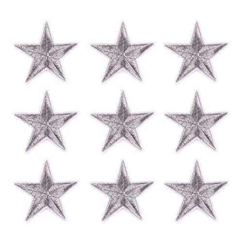 Flicken Aufbügelbilder Aufnäher Applikation Fünfzackiger Stern DIY Patch
