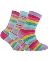 Kinder Mädchen Socken mit Streifen, 3er-Pack