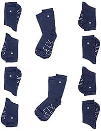 SOCKFIX Calcetines escolares cortos con botón (pack 10 pares)