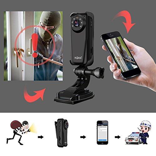 Galleria fotografica Telecamera di sicurezza INSMA® 1080P WIFI Fotocamera Supporta 1080p 720P tipo F3 Supporta per sicurezza domestica Compatibile con iOS e Android e PCVideocamera di Sorveglianza Wi-Fi N Visore Notturno