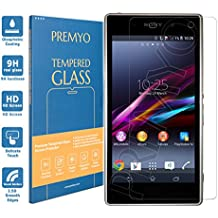 PREMYO cristal templado Xperia Z1. Protector cristal templado Z1 con una dureza de 9H, bordes redondeados a 2,5D. Protector pantalla Sony Xperia Z1