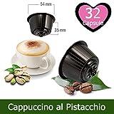 KICKKICK 32 Capsule Cappuccino Pistacchio Compatibili Nescafè Dolce Gusto