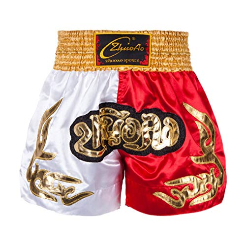 Rowentauk MMA Shorts Erwachsene Muay Thai Boxing Shorts Turnhalle Sport Boxerhosen Outfits für Männer, Frauen - Frauen Boxing Shorts