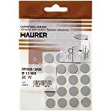 Maurer 5440102 Pack de 20 tapatornillos adhesivos, color gris