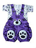 #9: SAS Baby Girl Baby Boys high Quality Dungaree Set for Kids with Complete Skin Care of Your Infant .Perfect Look of Dungaree Make Your Child Look Cool and Dashing (Purple, 12-18 Months)