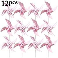 Fansport 12PCS Pinwheel para Niños Molino De Juguete Wind Spinner para La Decoración De La Fiesta De Cumpleaños