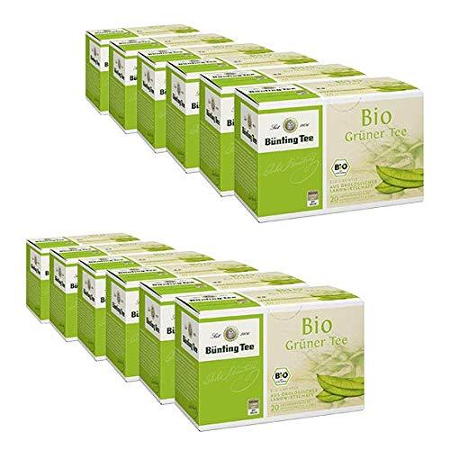 Bünting Bio Grüner Tee Beutel 20×1,75g, 12er