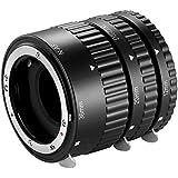 Neewer Ensemble de tubes d'extension 12mm, 20mm, 36mm pour Nikon appareils photo réflex numériques AF mise au point automatique ABS D7200, D7100, D7000, D5300, D5200, D5100, D5000, D3300, D3200, D3000, D40, D40x, D100, D200, D300, D3, D3S, D700, D90