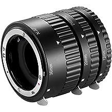 Neewer® AF Auto Focus 12mm,20mm,36mm ABS conjunto de tubos de extensión para cámaras réflex digitales Nikon como D7200,D7100,D7000,D5300,D5200,D5100,D5000,D3300,D3200,D3000,D40,D40x,D100,D200,D300,D3,D3S,D700,D90