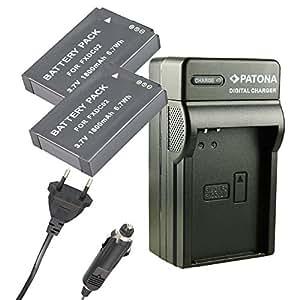 Chargeur PATONA + 2x Batterie FXDC02 FX-DC02 pour DRIFT HD GHOST