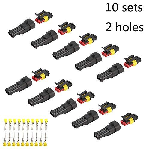 Fafada 10 Kit 2 Pin Connettore Elettrico Plug impermeabile per Auto e Camio